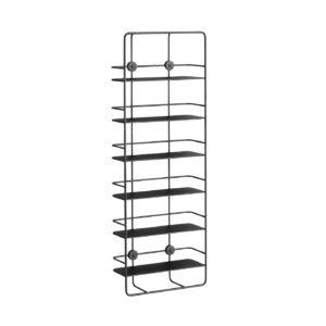 WOUD Coupé Vertical væghylde - sort metal, m. 6 hylder