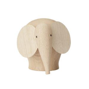 WOUD Nunu elefant medium - natur egetræ