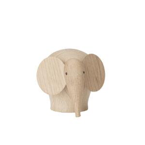 WOUD Nunu elefant mini - natur egetræ