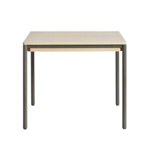 WOUD Piezas spisebord - hvidpigmenteret egetræ og metal (85x85)