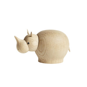 WOUD Rina næsehorn lille - natur egetræ
