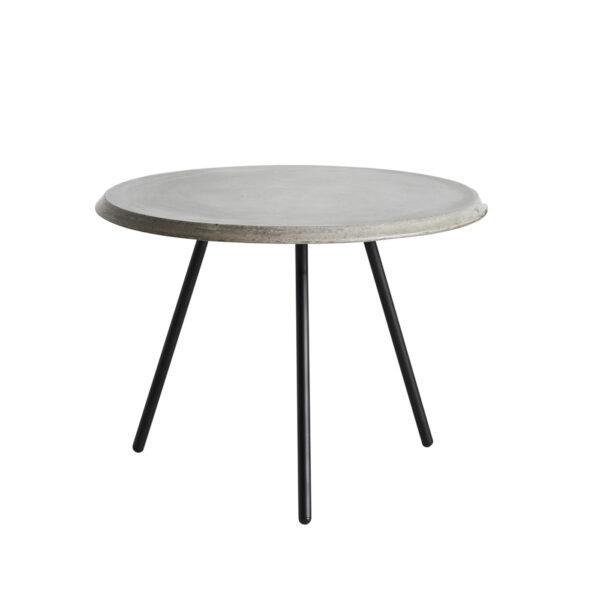WOUD Soround høj sofabord - grå/sort fiberbeton/metal, rund (Ø60)