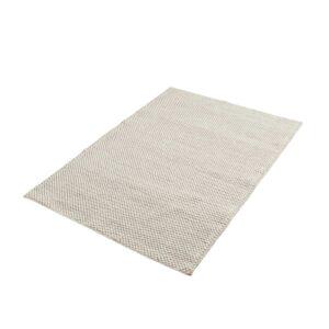 WOUD rektangulær Tact gulvtæppe - hvid uld og bomuld