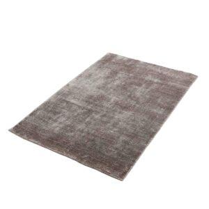 WOUD rektangulær Tint gulvtæppe - beige kunstsilke og bomuld