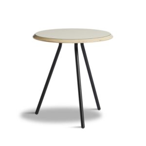 WOUD rund Soround sidebord - grå laminat og metal